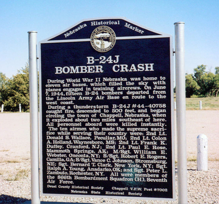 B-24J Bomber Crash