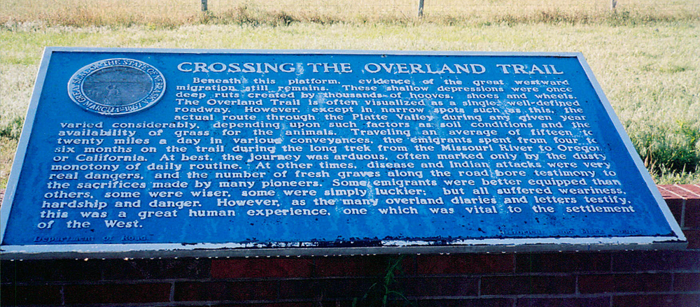 Crossing the Overland Trail
