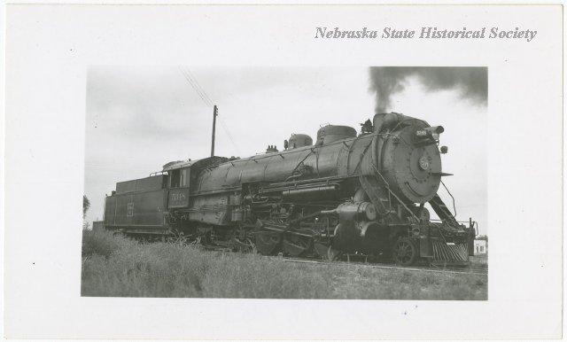Locomotive #5348 with its tender at Bridgeport, Nebraska. RG5804.PH0-000014