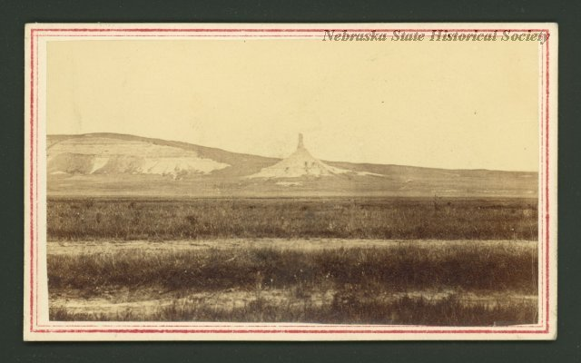 The first known photograph of Chimney Rock, taken by Charles Savage. RG3319.PH000001-000045