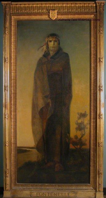 Portrait, Logan Fontenelle; Oil, William A. McKay, 1916. Hung in Fontenelle Hotel, Omaha, 8909-9