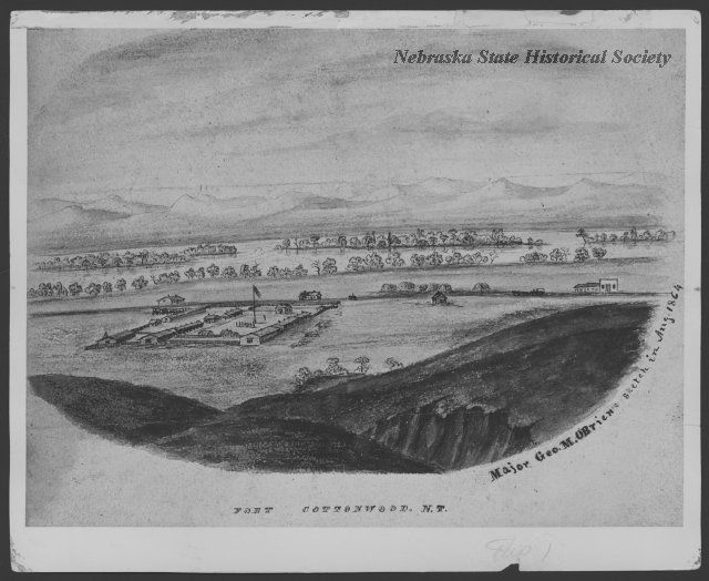 A drawing of Fort McPherson.