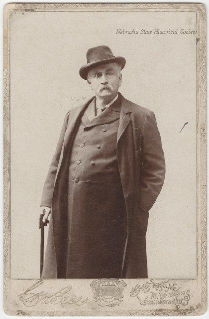 A studio portrait of J. Sterling Morton.