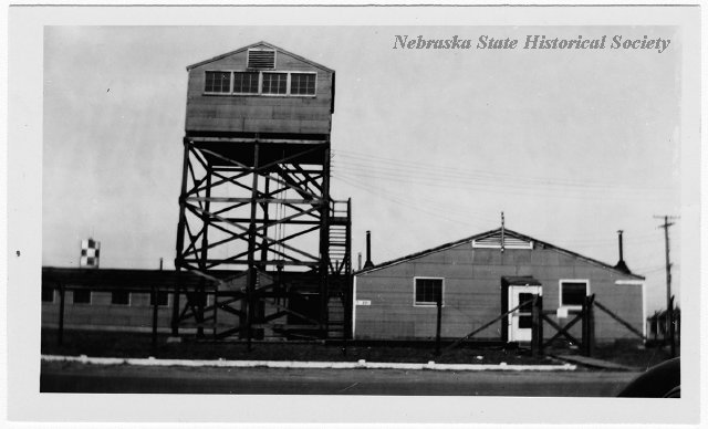 The Communications School and Signal Tower at the Harvard Army Air Field. RG3025.PH0-000009